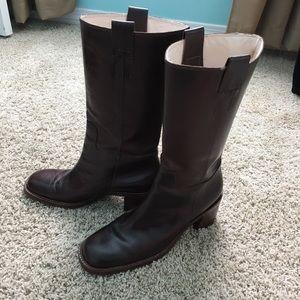 [Banana Republic] Leather Block Heel Boot Size 9